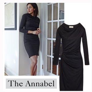 M.M. LaFleur Annabel Black Ruched Dress
